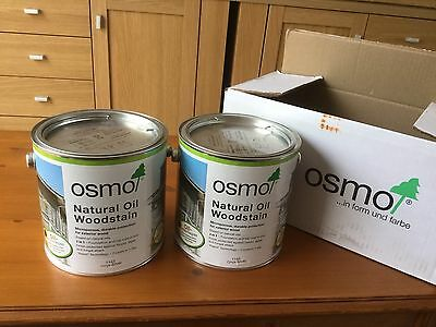 Osmo Natural Oil Wood Stain 1143 Onyx Silver 2.5 Ltr x 2 REDUCED