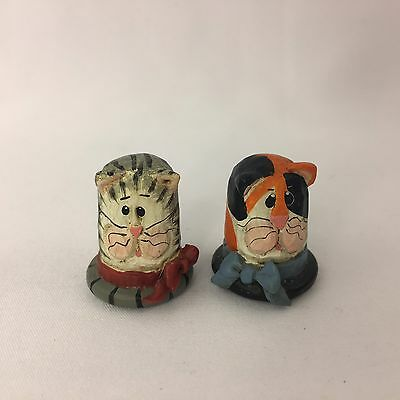 Lot of 4 Thimbles Eddie Walker Gimbel and Sons Matsumine Cats Sun Flower