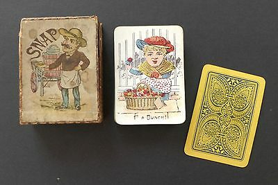 Antique SNAP 1800s Victorian Era Playing Cards Game Germany Vintage