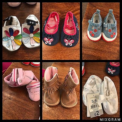 Baby Girl Shoe Bundle 0-6 Months 6-12 Months