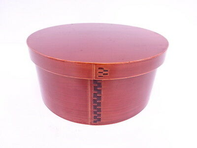 3060276: Japanese Shunkei Lacquer Chabitsu Tea Ware Container / Bent-Wood