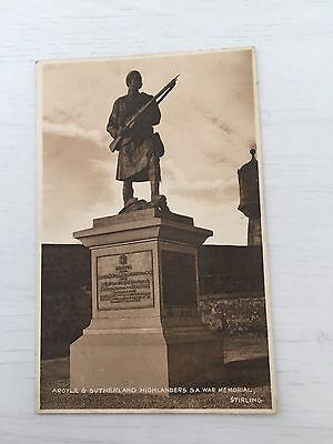 Argyle and Sutherland Highlanders Boer War Memorial at Stirling Scotland