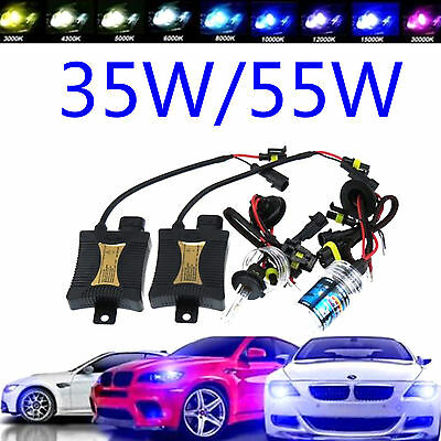 2x H1 H3 H4 H7 H11 9004 9005 9006 35W/55W XENON HID REPLACEMENT BIRNEN LAMPE