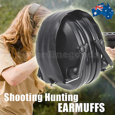 Foldable Shooting Hunting Tactical Electronic Earmuffs Ear Muffs Soundproof AU