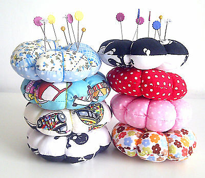 Round Pin Cushion, Polka Dot Pin Cushion, Various Pin Cushions, Skull, Campervan
