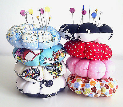 Reversible Pin Cushion, Skull Pin Cushion, Patchwork Pin Cushion, Novelty Sewing