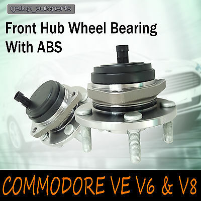 2 X Front Wheel Bearing Hubs Abs Holden Commodore Ve Statesman Wm V6 & V8  06-13