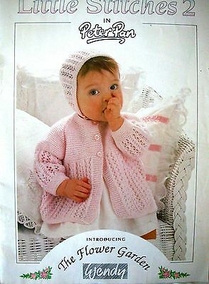 Wendy Knitting Pattern Book - LITTLE STITCHES 2 -12 Designs - Ages 0 to 5 Years