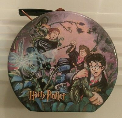 Harry Potter collectable Tin playworks 2001 Hogwarts Gryffindor Ron Hermione