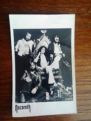 Postcard Nazareth with signed of the band members. Very rare!