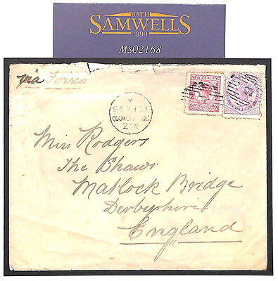 MS2168* 1893 NEW ZEALAND *Collingwood* GB Derbyshire  Cover