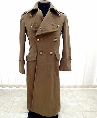 Wwii British Army Military Great Coat Of Major Catling R.a. & Original Receipt