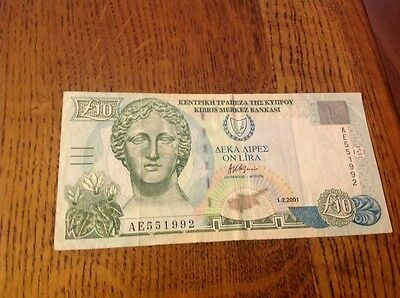 10 Cyprus Pounds banknote
