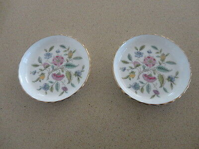 Two Minton  Haddon Hall Pin Dishes