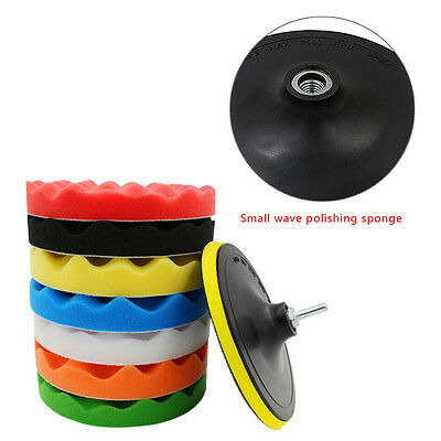 Sponge Polishing Buffing Pad Kit For Car Polisher Buffer With Drill Adapter TP