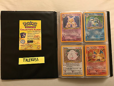 Pokemon Base Set NM COMPLETE 102/102 cards MINT original album Charizard Pikachu