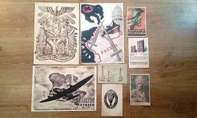 German Old Poster &  Postcards - WW II