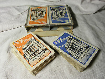 1930s Vintage DAILY TELEGRAPH Boxed Playing Cards VG Condition