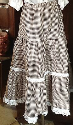Ladies Cotton Gingham Skirt Western or other Re-enactment