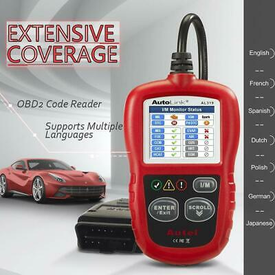 Autel AL319 OBD2 Auto CAN Diagnostic Tool Color Screen MIL Code Reader Ca Stock