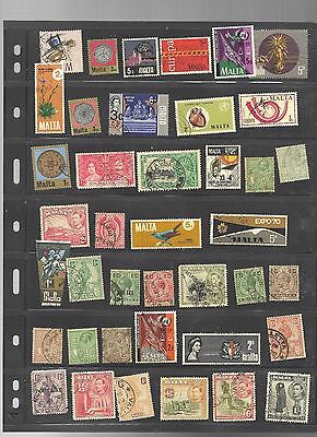 Malta Collection Of 140 Stamps Fine Used (No Killers) All Shown In 4 Scans