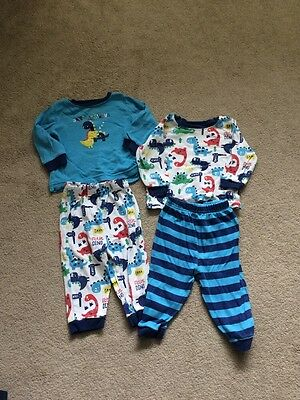 George Dinosaur Twin Pack Pyjamas 6-9months