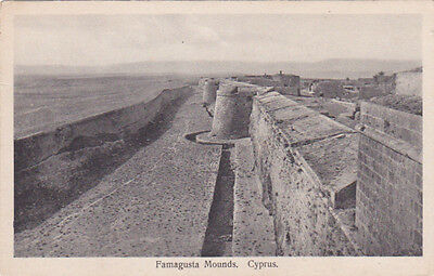 Cyprus Postcard Famagusta Mounds Venitian Fortifications Foscolo C 1920