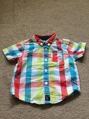 Baby Boys Check Shirt 3-6 Months