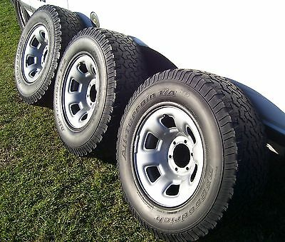 3 X Patrol 16 X 8 Inch Factory Steel Rim With Used Tyres