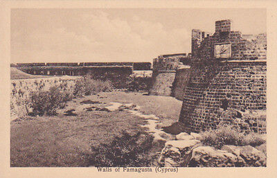 Cyprus Postcard Walls And Towers Of Famagusta Mangoian C 1928