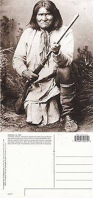 NORTH AMERICAN INDIAN APACHE TRIBE CHIEF GERONIMO UNUSED POSTCARD (a)