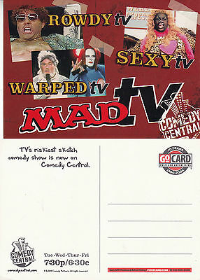 TV CHANNEL COMEDY CENTRAL ADVERTISING UNUSED COLOUR  POSTCARD (b)