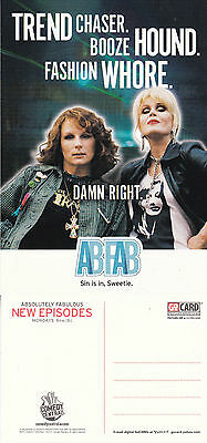 Ab Fab On Comedy Central Tv Unused Advertising Colour  Postcard