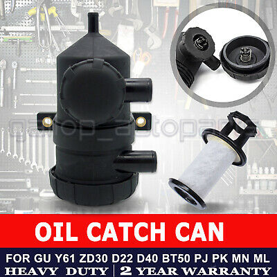 Pro 200 Vent Oil Separator Catch Can Filter 4wd Turbo Charged Landcruiser Hilux