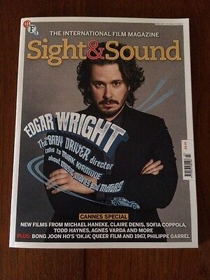 SIGHT AND SOUND - July 2017 - New FREE P&P  Film Magazine -Edgar Wright - Cannes