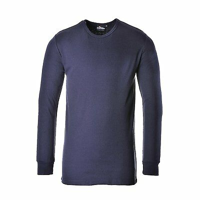 PORTWEST B123NARL Thermal 730 LS T-Shirt, Navy, Large