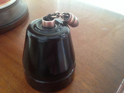 "Vintage Original 1930s Bakelite & Porcelain ""WANDSWORTH "" Light pull switch"