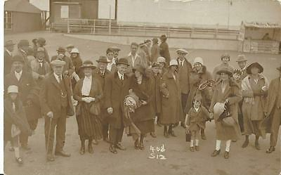 C 1920 - Outing To South Wales - Large Group On The Pier  Vintage Rp Postcard