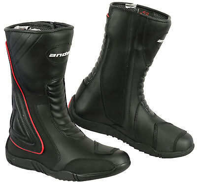 Waterproof Motorbike Boots Motorcycle Protection Track Real Leather Riders Shoes