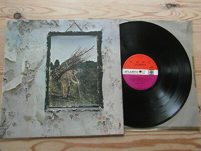 "LED ZEPPELIN IV - ATLANTIC DELUXE-2nd PRESS-""SUPERB AUDIO""-EX+VG+VINYL LP1969"