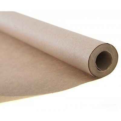 750mm x 10M STRONG BROWN KRAFT WRAPPING PAPER 90GSM