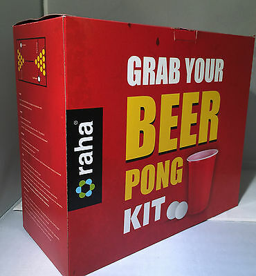 Original Beer Pong Kit Red Party Game with Cups, Balls and Game Matts - 28pcs