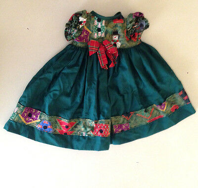 Vintage Christmas Dress for My Child Doll - Cabbage Patch Kid doll