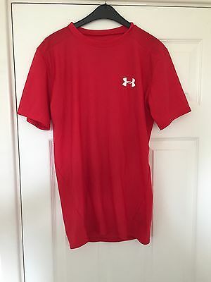 Under Armour Short Sleeve  CompressionBase Layer  Red Large