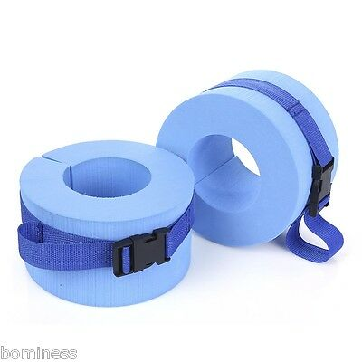 Paired Water Aerobics Swimming Weight Aquatic Cuffs Perfect for Ankles Arms Blue