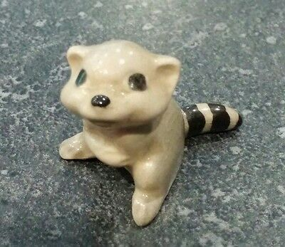 Retired Hagen Renaker, Raccoon Baby, Miniature Ceramic Figurine, Unusual Eyes