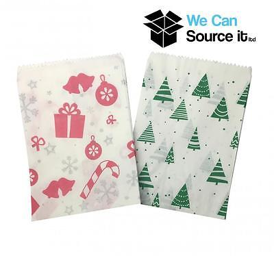 All Christmas Party Sweet Candy Paper Bags Tree Santa Snow Cake Wedding 5x7 NEW