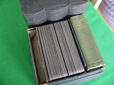 SUPERB CASE OF 72 VINTAGE UNDERWOOD ITALY Stereoview PHOTO CARDS BOOK & MAPS
