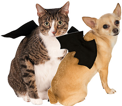 Animal Pet Dog Cat Bat Vampire Halloween Fancy Dress Costume Outfit Wings