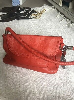 Small Red Leather Shoulder Bag